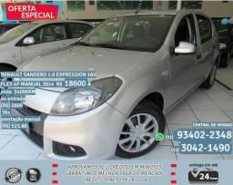 Prata Renault Sandero 1.0 expression 16v flex 4p manual 2014 R$ 18.644 34000km - 2014