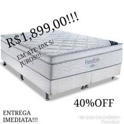 40%off!!conj.box freedom ortobom casal!!!!
