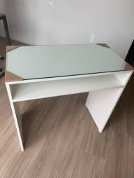 Mesa manicure para unhas acrigel + tampo de vidro 100% MDF