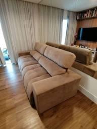 Sofá retrátil, reclinável e articulado de 2 lugares