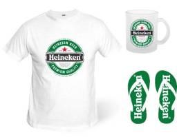 Kit camiseta caneca e chinelo cervejas