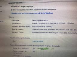Notebook Samsung 15,6? I5 3 geração  8gb memória RAM  500HD