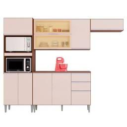 Cozinha aline com balcão - entrega e montagem na hora