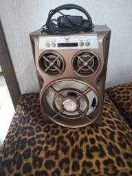 Caixa de som com Bluetooth , e carregador.30w