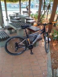 Bicicleta Aro 29 Woltz Aço 21 Marchas Freio A Disco - Preto e Vermelho