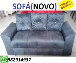 Promoção Imperdivel de Sofa 3 Lugares Com ALmofadas Novo Com Frete Gratis 499,00