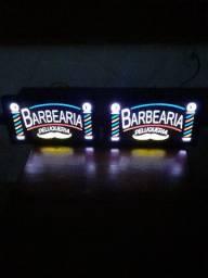 2 Placas luminosas ( Barbearia)