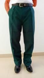 Kit 2 Calças Social Masculina Verde Nº 44 + 1 Gravata