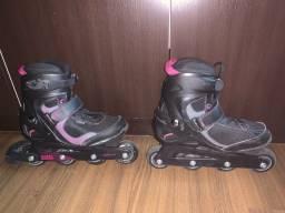 Patins roller+capacete