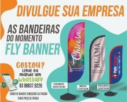 Título do anúncio: Fly Banner Completo / Wind Banner / Bandeiras de Lojas