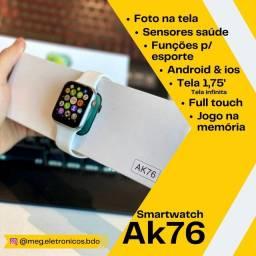 Título do anúncio: Smartwatch AK76 Relógio inteligente masculino e feminino 44mm tela de 1,75