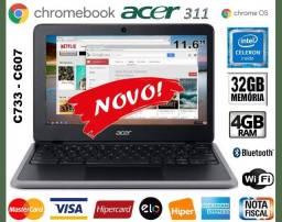 """Chromebook Acer Celeron, 4GB, eMMC 32GB, Tela de 11.6"""" Wi-Fi, Novo, Caixa, Gar Troco"""