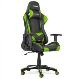 Cadeira Gamer Xperience PRO Verde, Giratória e Sistema de Inclinação em até 12x