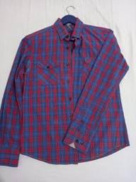 Camisa Xadrez Blue Steel - tam P