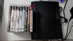 Título do anúncio: PS3 usado com 9 jogos