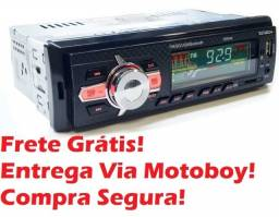 Rádio Automotivo Jc-81855 Fm / Usb / Sd / Rca / Bluetooth - Frete Grátis!