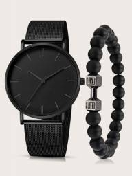 Título do anúncio: Relógio com pulseira (novo)