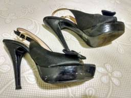 Sapato Feminino Scarpin Salto Alto Preto T.Blue n° 34