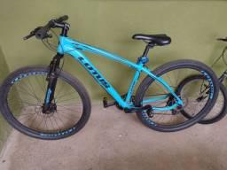 Bicicleta lótus azul