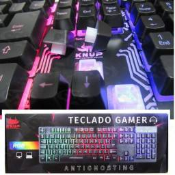 Teclado semi - mecanico KP-TM009 Game com led