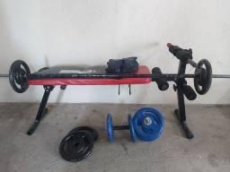 Aparelho Musculação, Exercicio, Supino, Agachamento, Halteres