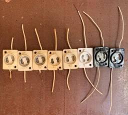 Kit com 8 Porta Starter Lâmpada Fluorescente com Rabicho