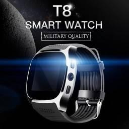 Smartwatch T8 Bluetooth, Câmera, Cartão Sim e Sd Card