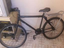 Bicicleta aro 26 com bagageiro Faça Entregas delivery