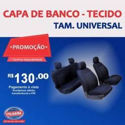 Título do anúncio:  Capa De Banco Tecido Universal Padrão Sem Logo- Entrega grátis