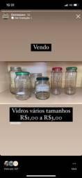 Título do anúncio: Vidros para conserva ou artesanato
