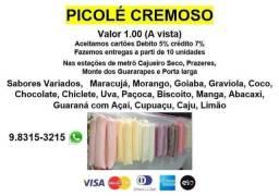 Picolé Cremoso (Aceita cartão)