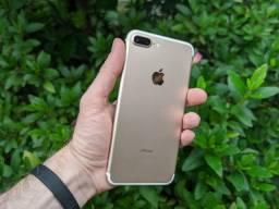 Título do anúncio: iPhone 7 Plus 128GB dourado - Excelente! Com Garantia