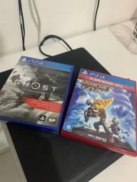 Título do anúncio: Ghost of Tsushima + Ratchet Clank PS4