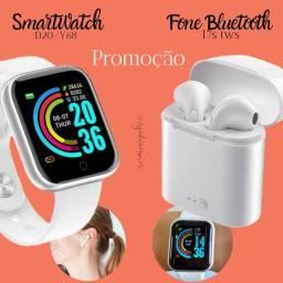 Título do anúncio: Relógio Smartwatch D20/Y68 e Fone Bluetooth I7s tws PROMOÇÃO