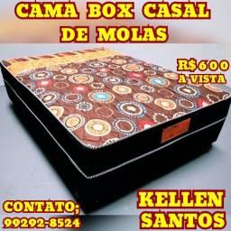 Título do anúncio: Cama Cama % Box de Casal Molas % Promoçao %