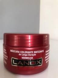Máscara Colorante vermelha Color System Lanox - 250g