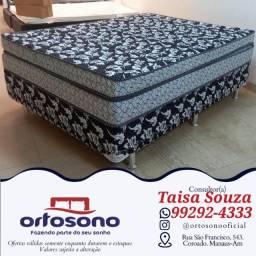 Título do anúncio: cama cama ** cama box casal - ganhe 02 travesseiros