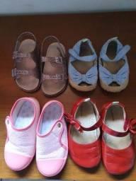 Lote de sapatos 23/24 Menina