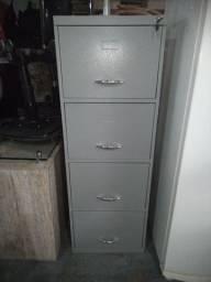 Arquivo ferro com chave e 4 gavetas, Armário Novo .