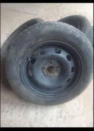Jogo de Roda ferro 5 furos VW
