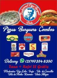 Pizzas Burguers e Combos