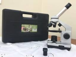 Microscópio Júnior Digital Alemão Acompanha Maleta Completa de Equipamentos