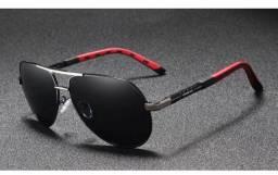 Óculos de Sol Modelo Piloto Lente Policarbonato e Armação de Alumínio  Kingseven K725 20fb85928f