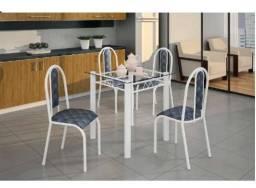 Oferta Imperdivel de Lindo Conjunto de Mesa 4 Cadeiras(Tampo de Vidro)Nova Apenas 689,00