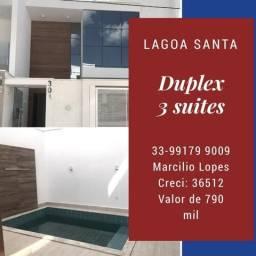 Duplex 3 suítes no Lagoa Santa