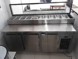 $@\ balcão Condimentadora refrigerada sob medida 48- *