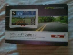 """Gps com Tv Digital 4.3"""" Tem conversa no valor para vender logo novo só foi aberta a caixa"""