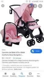 Conjunto Carrinho At6 + Bebê Conforto Touring Evolution Se Ibiza - Burigotto