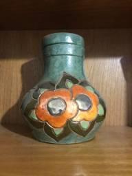 Vaso de decoração com tampa