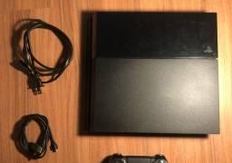 PS4 + 2 controles + 3 jogos